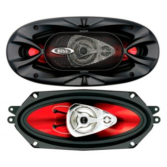 "BOSS® - 4"" x 10"" 3-Way Chaos Exxtreme Series 400W Coaxial Speakers"