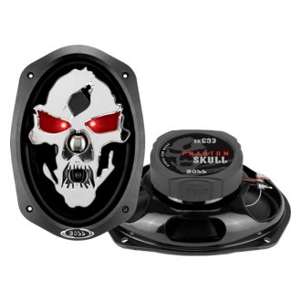 "BOSS® - 6"" x 9"" 3-Way Phantom Skull Series 600W Coaxial Speakers"