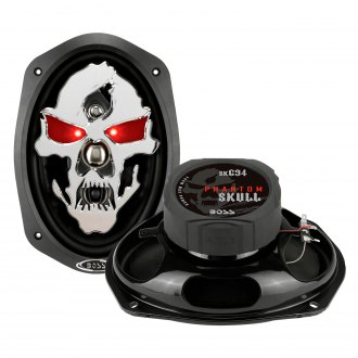 "BOSS® - 6"" x 9"" 4-Way Phantom Skull Series 700W Coaxial Speakers"