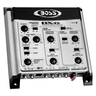 BOSS® - 2-Way/3-Way Electronic Crossover with Remote Subwoofer Level Control