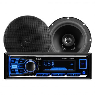 "BOSS® - Single DIN AM/FM/MP3/WMA Receiver with 6.5"" Speakers"