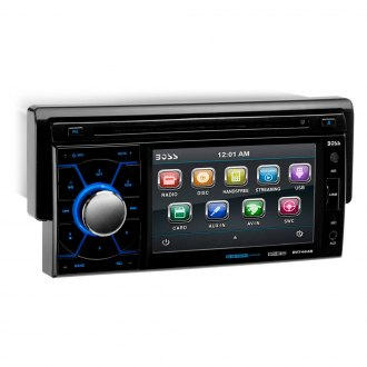 "BOSS® - Single DIN DVD/CD/AM/FM/MP3/WMA Receiver with Drop Down 4.6"" TFT Touchscreen Monitor and Built-In Bluetooth"