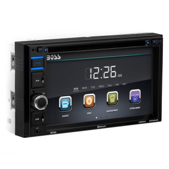 "BOSS® - Double DIN DVD/CD/AM/FM/MP3/WMA Receiver with 6.2"" Touchscreen Display, Built-In Bluetooth and RDS Tuner"