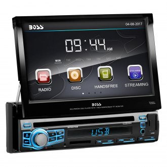 "BOSS® - Single DIN DVD/CD/AM/FM/MP3/WMA Receiver with Motorized 7"" Touchscreen Display and Built-In Bluetooth"