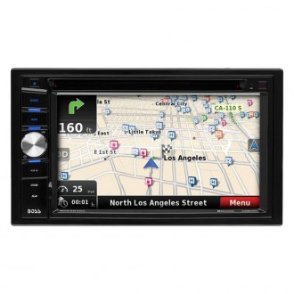 "BOSS® - Double DIN DVD/CD/AM/FM/MP3/WMA Receiver with 6.2"" Touchscreen Display Built-In Bluetooth, GPS Navigation and Rear View Camera"