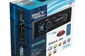 BOSS® - Single DIN Marine MP3/WMA/AM/FM Remote Control Black Stereo Receiver with Built-In Bluetooth