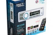 BOSS® - Single DIN Marine MP3/WMA/AM/FM Remote Control Stereo Receiver with Built-In Bluetooth