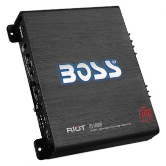 BOSS® - Riot Series Class AB Mono 1100W Amplifier