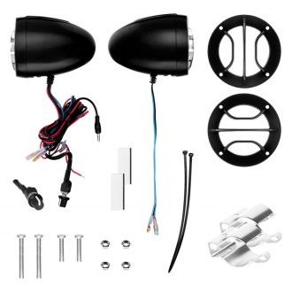 "BOSS® - 2-1/2"" Black 2-Channel Amplified Motorcycle/ATV 400W Weatherproof Speaker Kit"