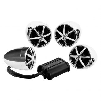 "BOSS® - 3"" Chrome 4-Channel Amplified Motorcycle/ATV 1200W Weatherproof Speaker Kit"