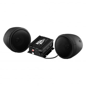 "BOSS® - 3"" Black 2-Channel Motorcycle/ATV 600W Weatherproof Speaker Kit with Bluetooth Speakers"
