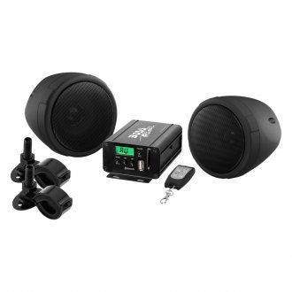 "BOSS® - 3"" Black 2-Channel Amplified Motorcycle/ATV 600W Weatherproof Speaker Kit"
