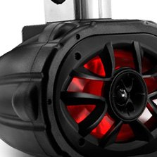BOSS Wake Tower Series 4-Way 550W Marine Black Speaker with RGB LED