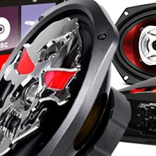BOSS 3-Way Phantom Skull Series 300W Coaxial Speakers