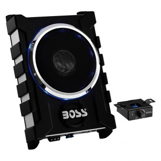 "BOSS® - 10"" Bass Series Single Low Profile Sealed Powered 1600W Subwoofer Enclosure with Remote Level Control"