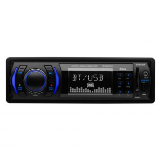 BOSS® - Single DIN AM/FM/MP3/WMA Mechelss Receiver with Built-In Bluetooth and Front Aux