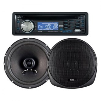 "BOSS® - Single DIN CD/MP3/AM/FM Stereo Receiver with 6.5"" Speakers"