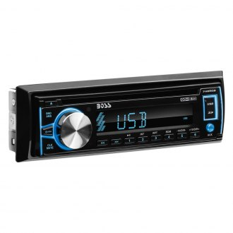 BOSS® - Single DIN CD/AM/FM/MP3/WMA Stereo Receiver with Front Aux Remote