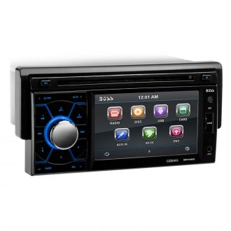 "BOSS® - Single DIN DVD/MP3/CD/AM/FM Receiver with Drop Down 4.6"" TFT Touchscreen Monitor"