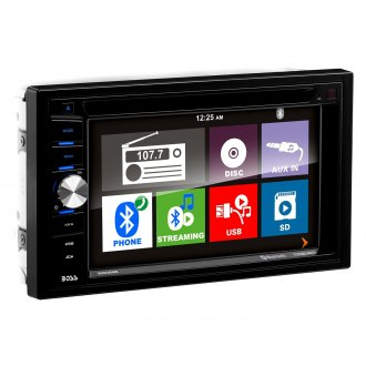 "BOSS® - Double DIN DVD/CD/AM/FM/MP3/WMA Receiver with 6.2"" TFT Touchscreen Monitor, Built-In Bluetooth and Wireless License Plate Backup Camera"