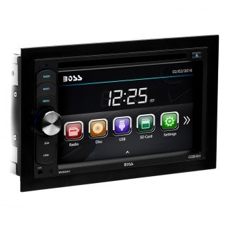 "BOSS® - Double DIN DVD/CD/AM/FM/MP3/WMA Receiver with 6.2"" TFT Touchscreen Monitor"