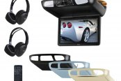 "BOSS® - 10.1"" Flip Down TFT Monitor with Buit-In DVD Player and 3 Housings Options"
