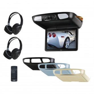 "BOSS® - 10.1"" Flip Down TFT Monitor with Built-In DVD Player and 3 Housing Options"