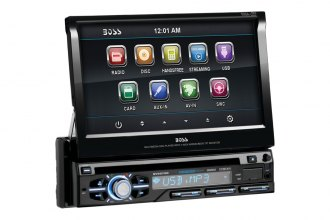 "BOSS® - 7"" Single DIN In-Dash Flip-Up DVD Receiver with Bluetooth"