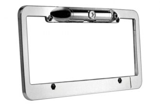 BOYO® - Chrome License Plate Frame Rear-View High Resolution Back-Up Camera
