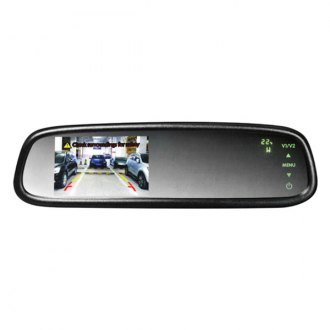"BOYO® - OE Style Rear View Mirror with 4.3"" LCD Monitor, Compass and Temperature"