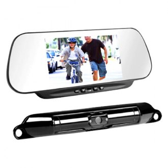 "BOYO® - Wireless License Plate Rear View Camera and 6"" Digital LCD TFT Mirror Monitor System"