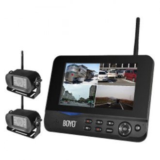 "BOYO® - Multiple Channel Wireless Camera System with Built-in DVR and 7"" TFT LCD Monitor"