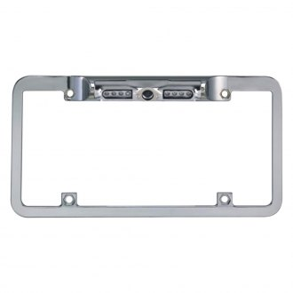 BOYO® - Night Vision Full Frame Chrome License Plate Camera with Built-in Parking Guide Lines