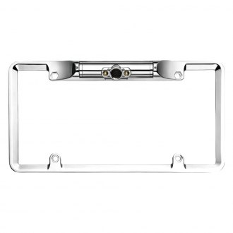 BOYO® - Chrome Full Frame License Plate Camera with LED Lights