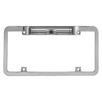 BOYO® - Waterproof Wide View License Plate Chrome Camera