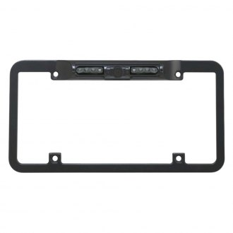 BOYO® - Night Vision Full Frame Black License Plate Camera with Built-in Parking Guide Lines