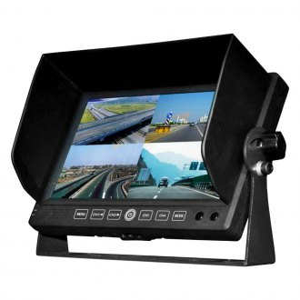 "BOYO® - 7"" Quad Split Screen Digital LCD TFT Back-Up Monitor"