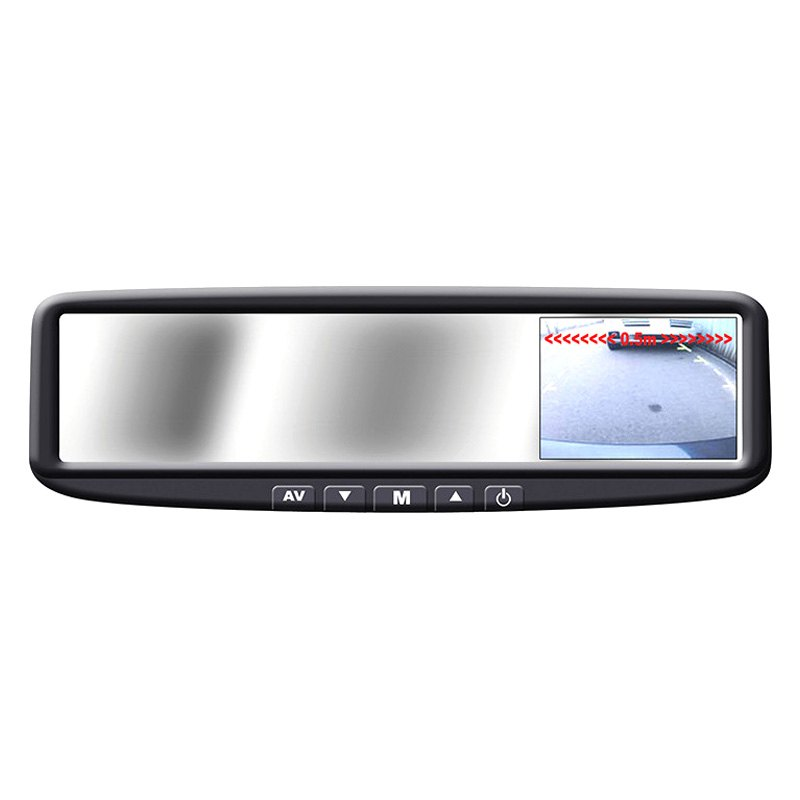 "BOYO® VTB44M - Rear View Mirror with Built-In 4.3"" Monitor"