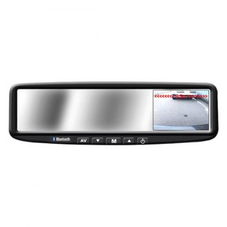 "BOYO® - Rear View Mirror with Built-In 4.3"" Monitor/Bluetooth/Compas and External Temperature"