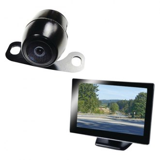 "Boyo® - Rear View System with 5"" Monitor and License Plate Mount Camera"