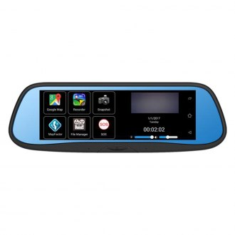 "BOYO® - Rear View Mirror with Built-In 7"" DVR Monitor"
