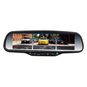"BOYO® - Factory Style Rear View Mirror with Built-in 3.5"" Triple Split Screen Monitor"