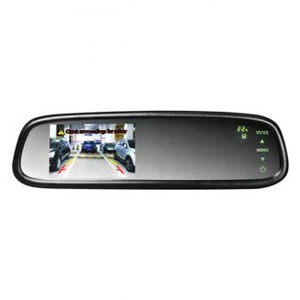 "BOYO® - Factory Style Rear View Mirror with Built-in 4.3"" Monitor and Compass/Temperature Display"