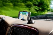 Bracketron® - Mi-T Grip™ GPS and Mobile Device Dash Mount in Use