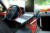 Bracketron® - Vehicle Laptop Mount in Use