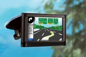Bracketron® - Nav-Pro™ GPS Windshield Mount in Use