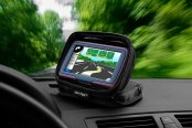Bracketron® - Nav-Pack™ Portable GPS Dash Mount / Travel Case in Use