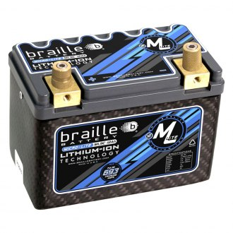 Braille Battery® - Lithium 12 Volt Battery Micro Lite Carbon