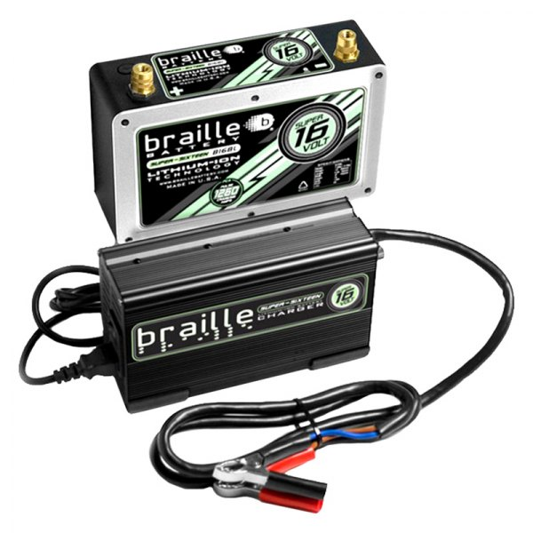 Braille Battery® - Super Lithium 16V Battery with Rapid Charger