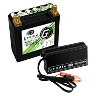 Braille Battery® - Green Lite 12V Lithium Battery with Rapid Charger